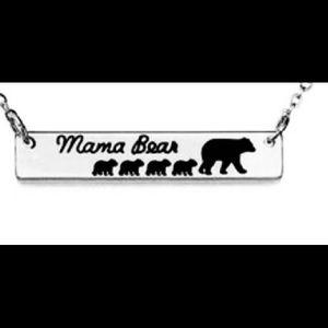 Silver Mama Bear Necklace!